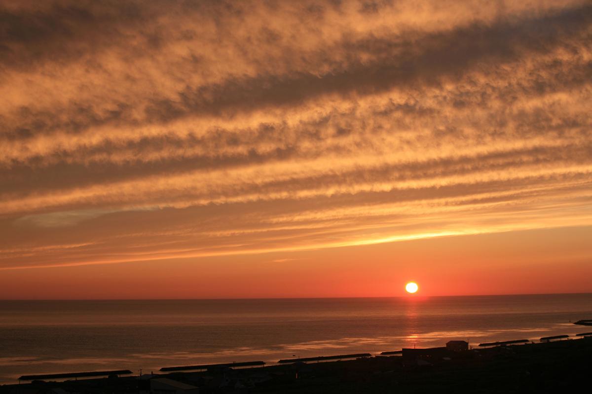 北海道の稚内の夕日の写真