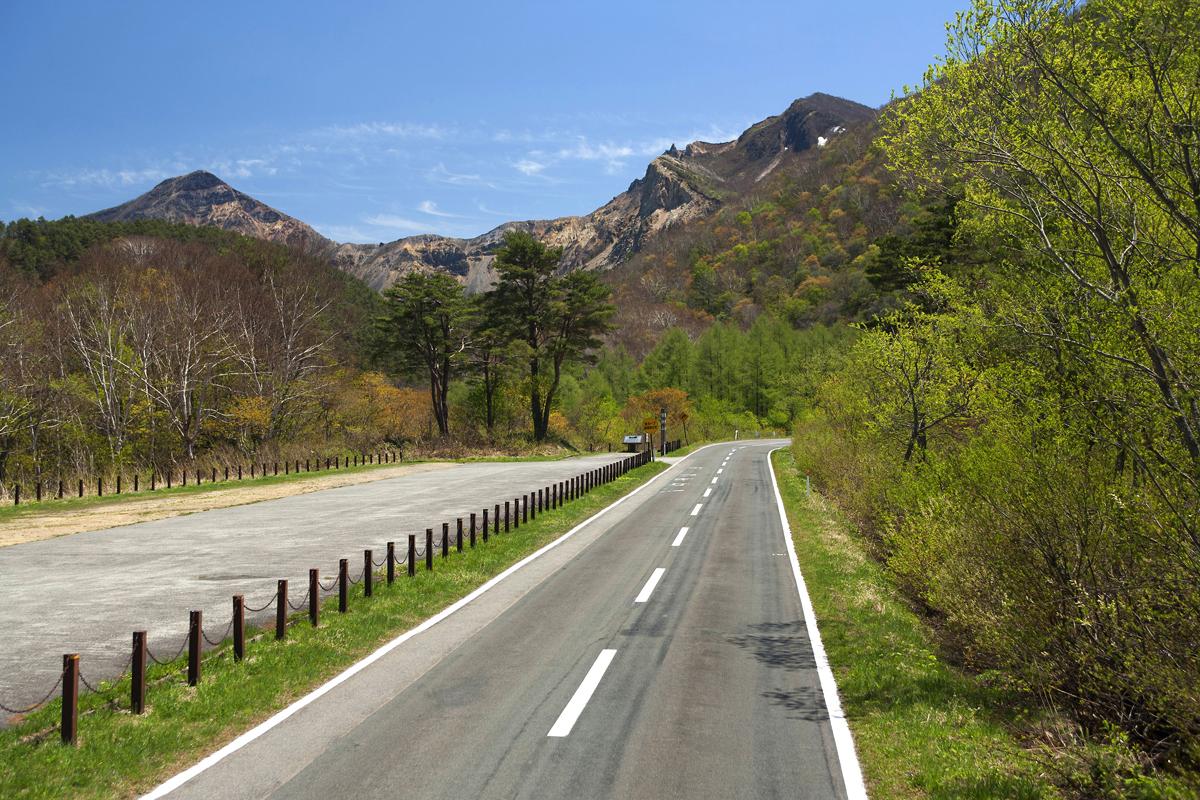 福島の磐梯山ゴールドラインの写真