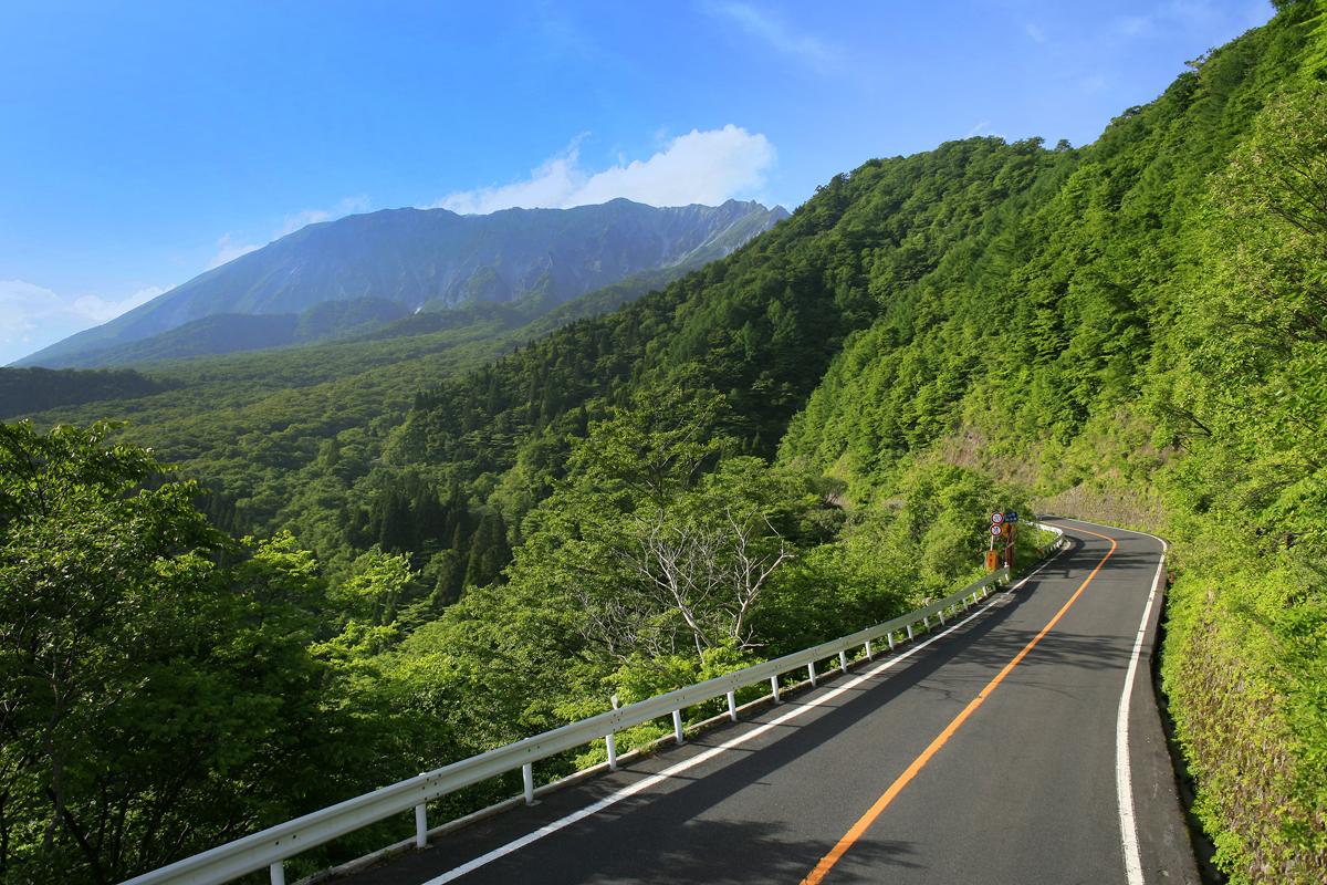 鳥取の大山環状道路の写真